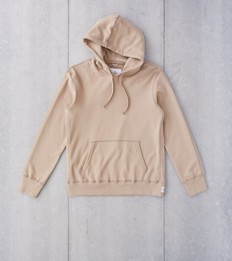 Reigning Champ Pullover Hoodie - Khaki Division Road
