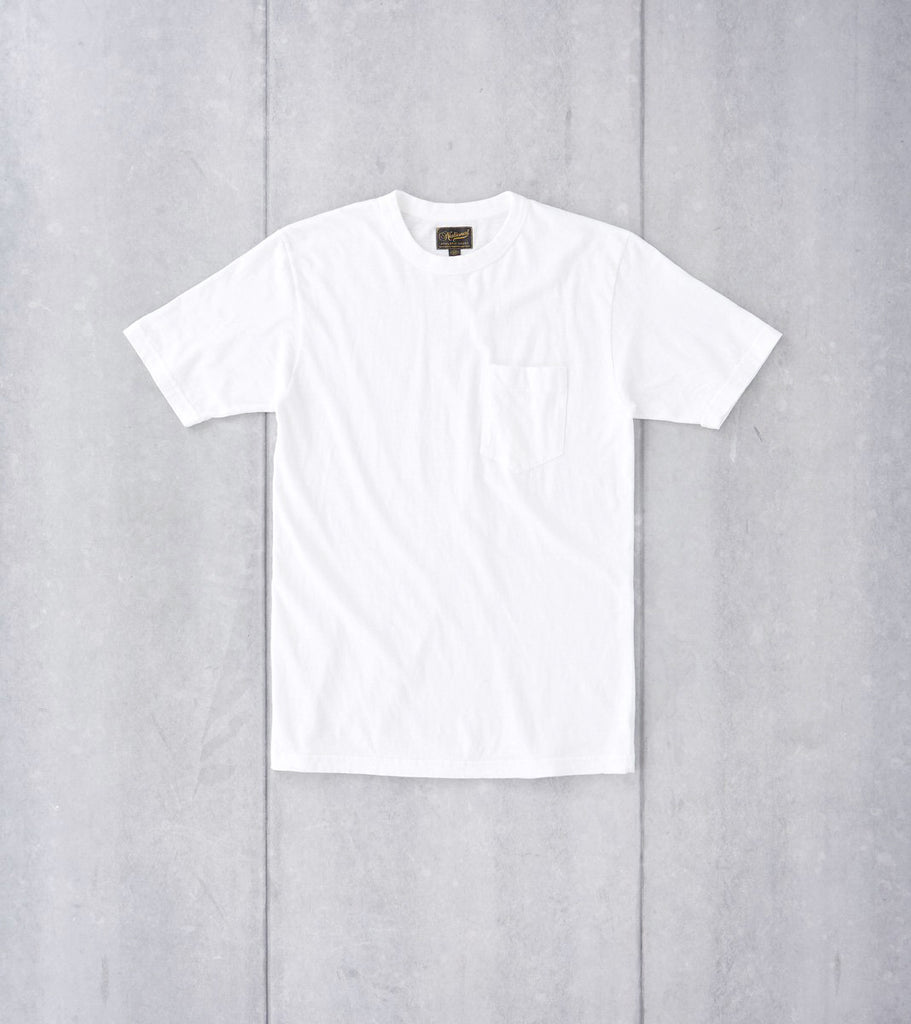 National Athletic Goods Pocket Tee - White Division Road