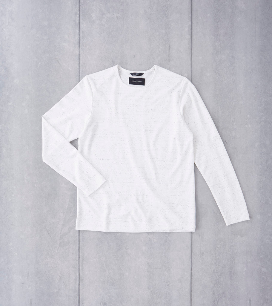 wings+horns Signals Long Sleeve - Static White Division Road
