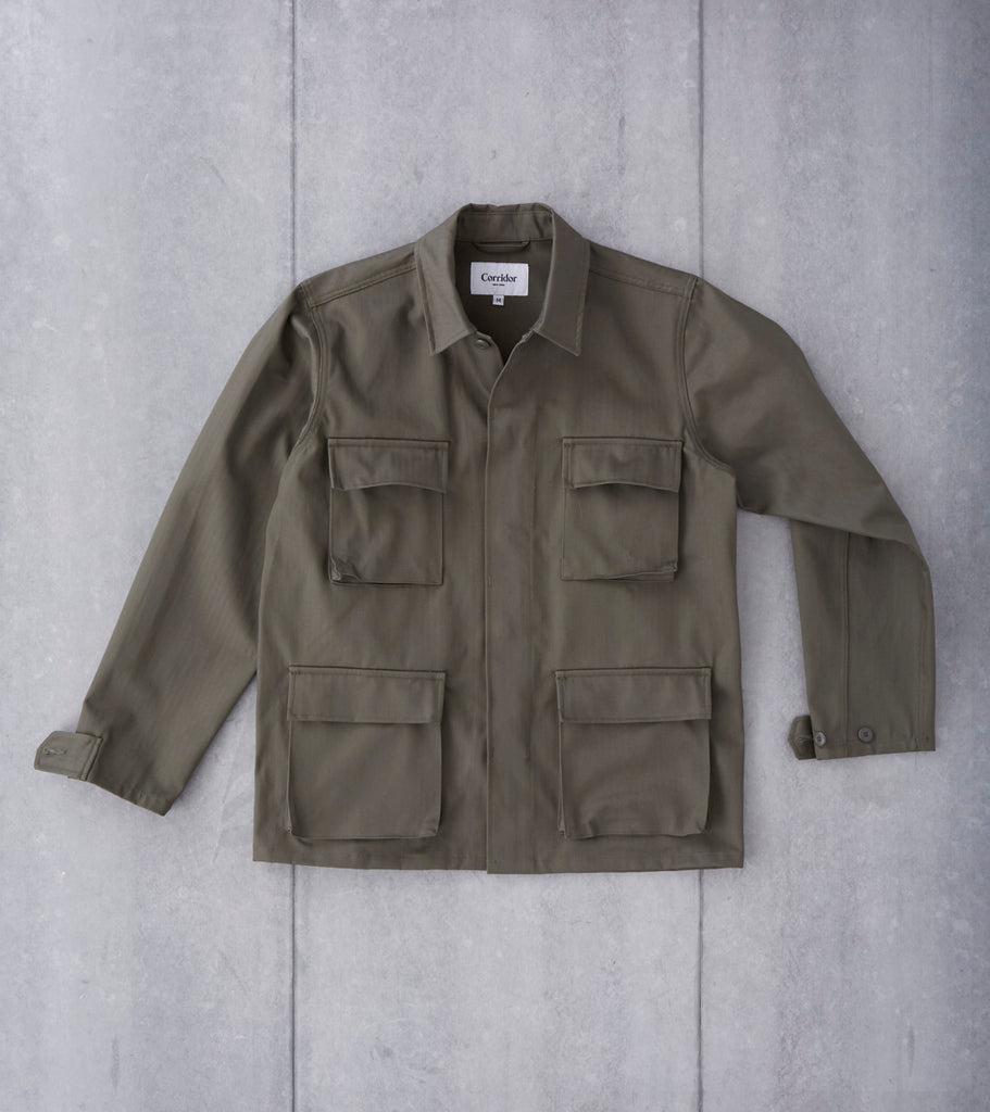 Corridor NYC x Division Road M41 - Herringbone Twill - Forest
