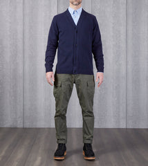 Still By Hand Linen/Cotton Cardigan - Navy Division Road