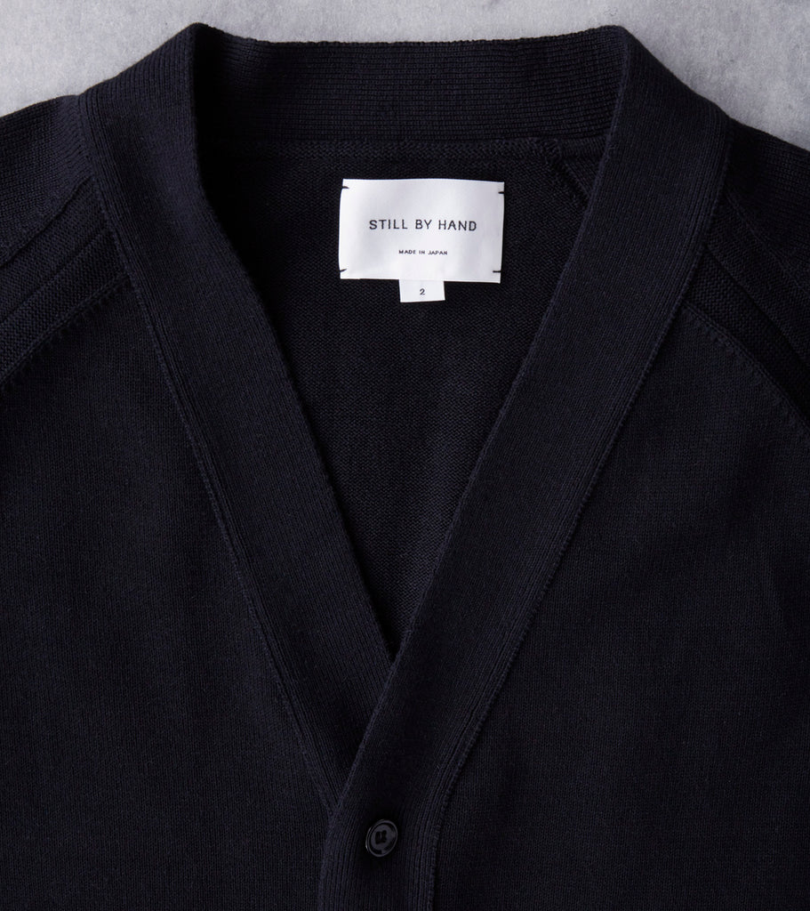 Still By Hand Linen/Cotton Cardigan - Black Division Road