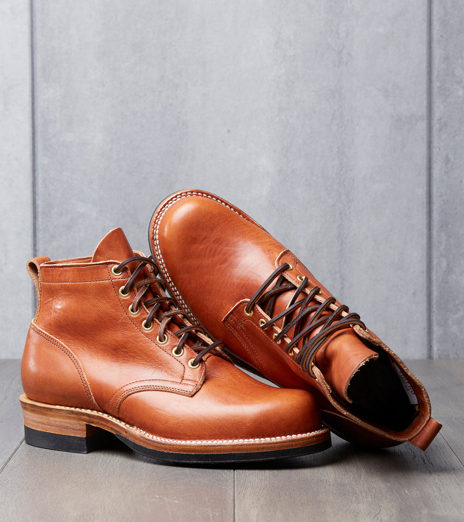Viberg Service Boot - 160 - Vibram 705 - English Tan Dublin Division Road