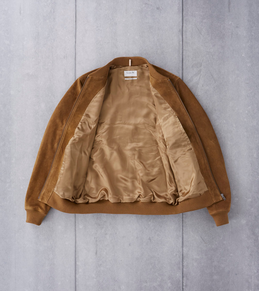 A.P.C. Louis W. Ferris Bomber - Tobacco Suede Division Road