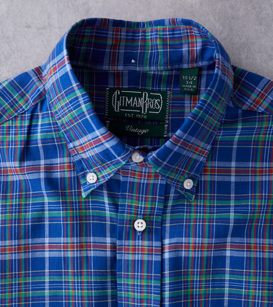 Gitman Vintage Archive Madras Check - Blue Division Road