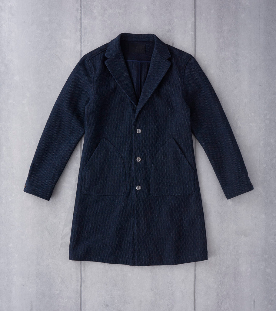 Nine Lives Sashiko Duster Coat - Indigo Division Road