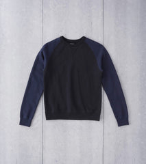 Tsuriurake Loopwheeled Raglan Sweatshirt - Black & Navy