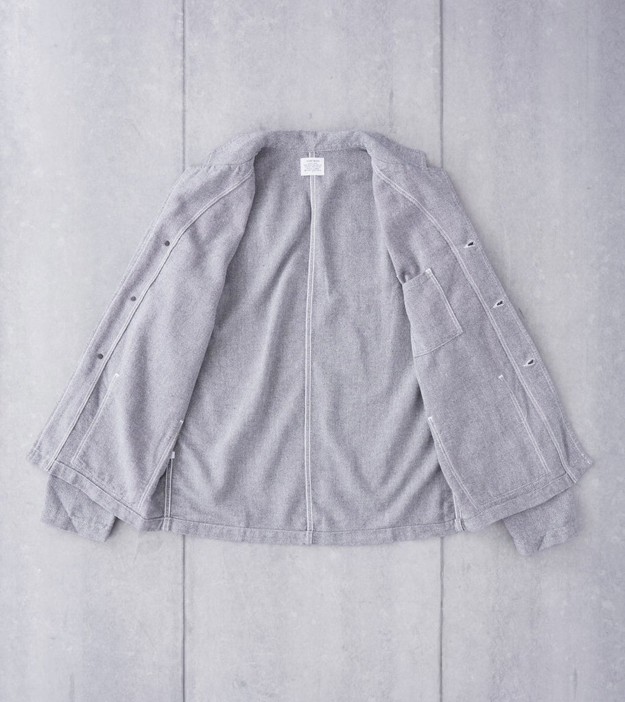Home Work Cotton Shop Blazer - Grey Division Road
