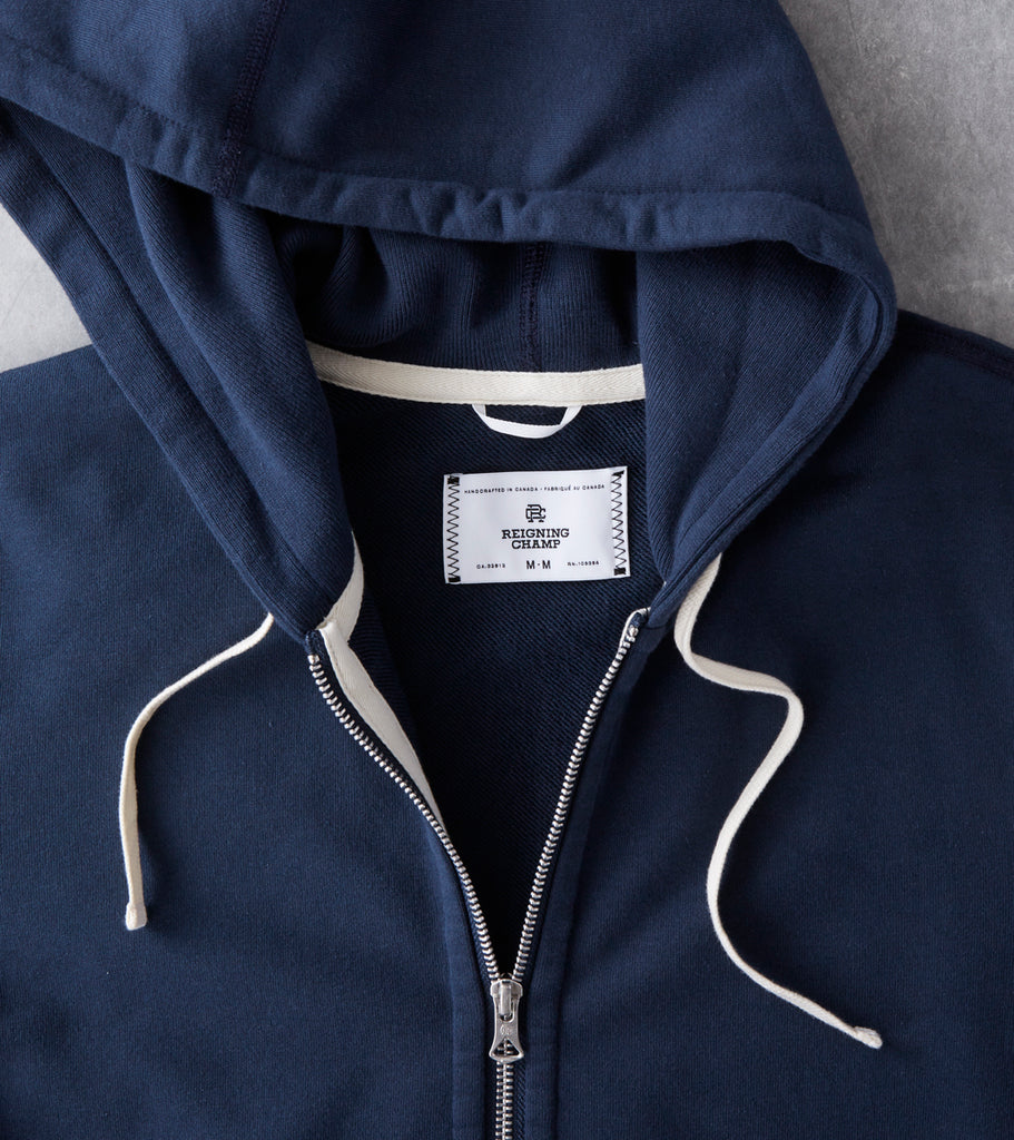 Reigning Champ Full Zip Hoodie - Steel Division Road