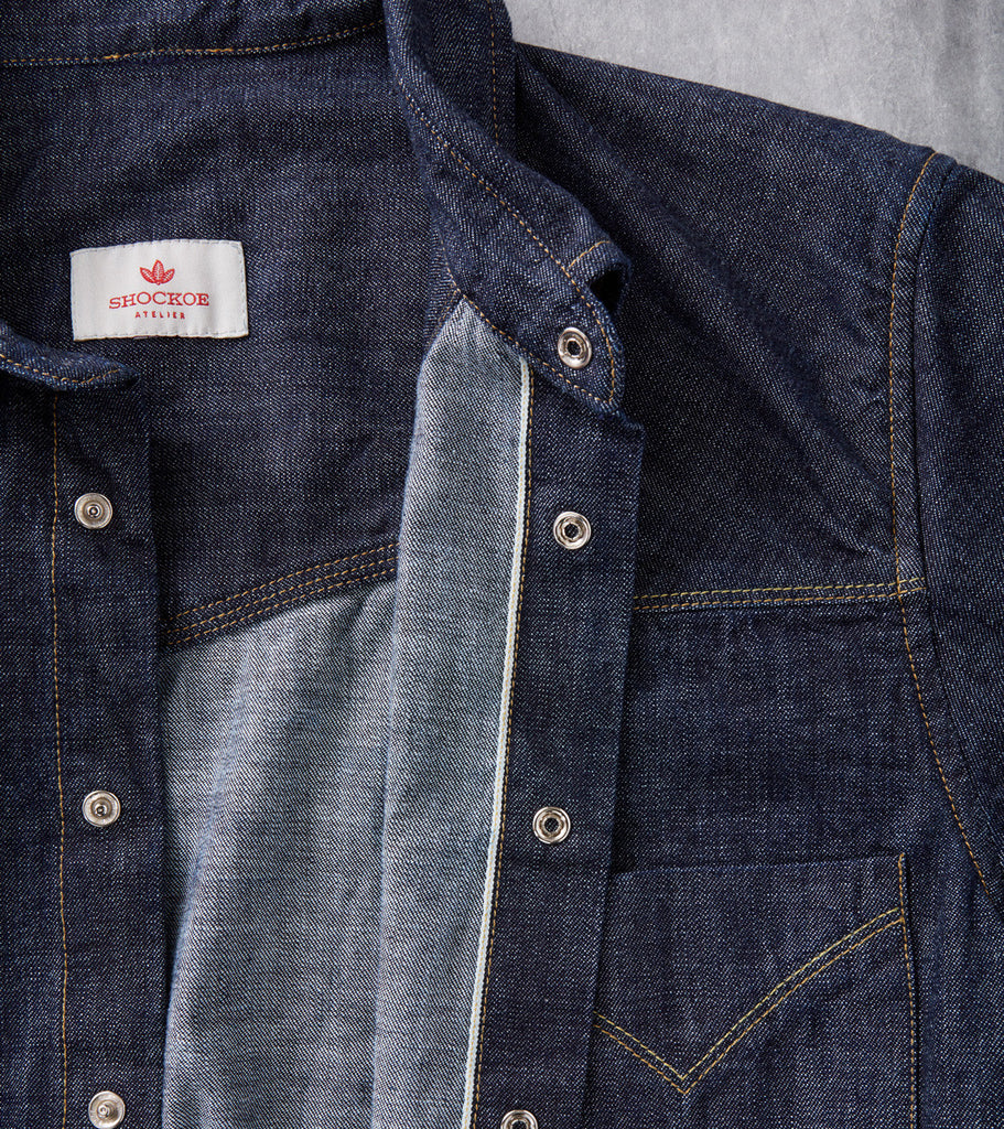 Shockoe Atelier Western Shirt Selvedge Denim Dixon Division Road