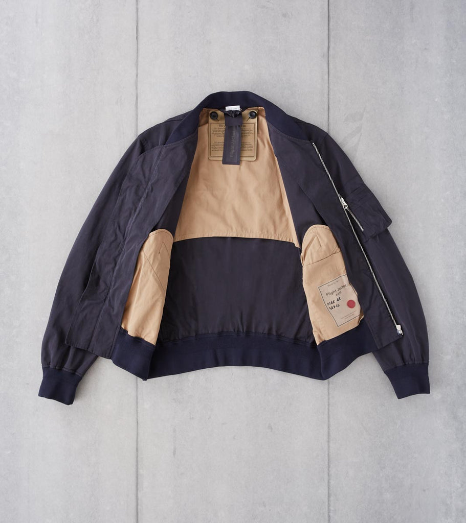 Division Road Ten C OJJ Flight Jacket - Navy