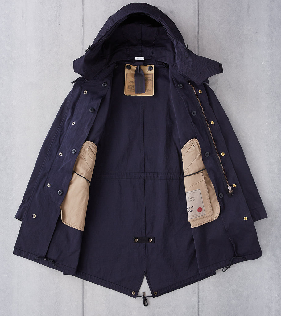 Division Road Ten C OJJ Fishtail Parka - Dark Navy