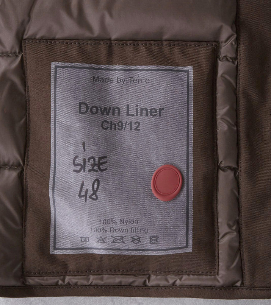Division Road Ten C Down Liner - Olive