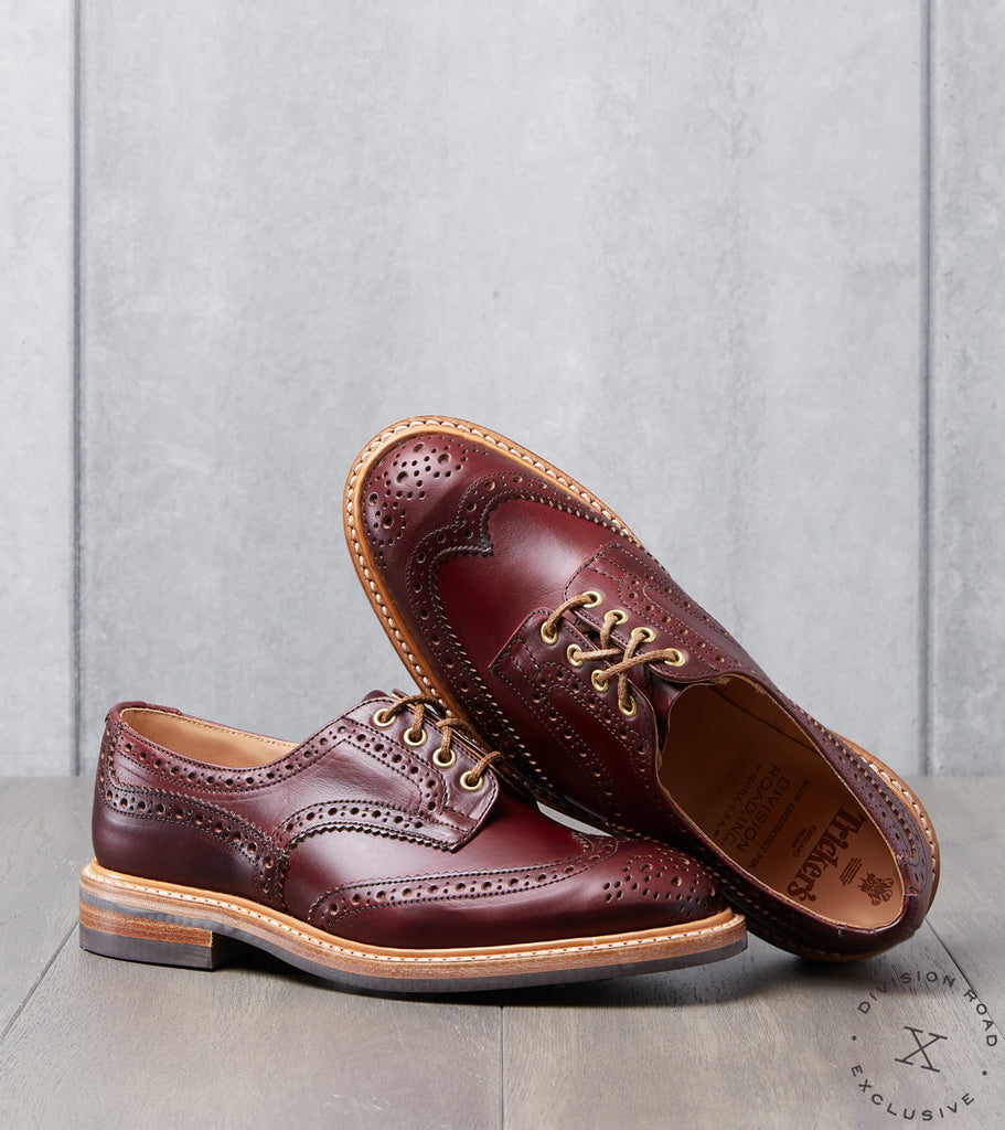 Division Road Tricker's Bourton Brogue Derby - Dainite - Horween Color 8 CXL