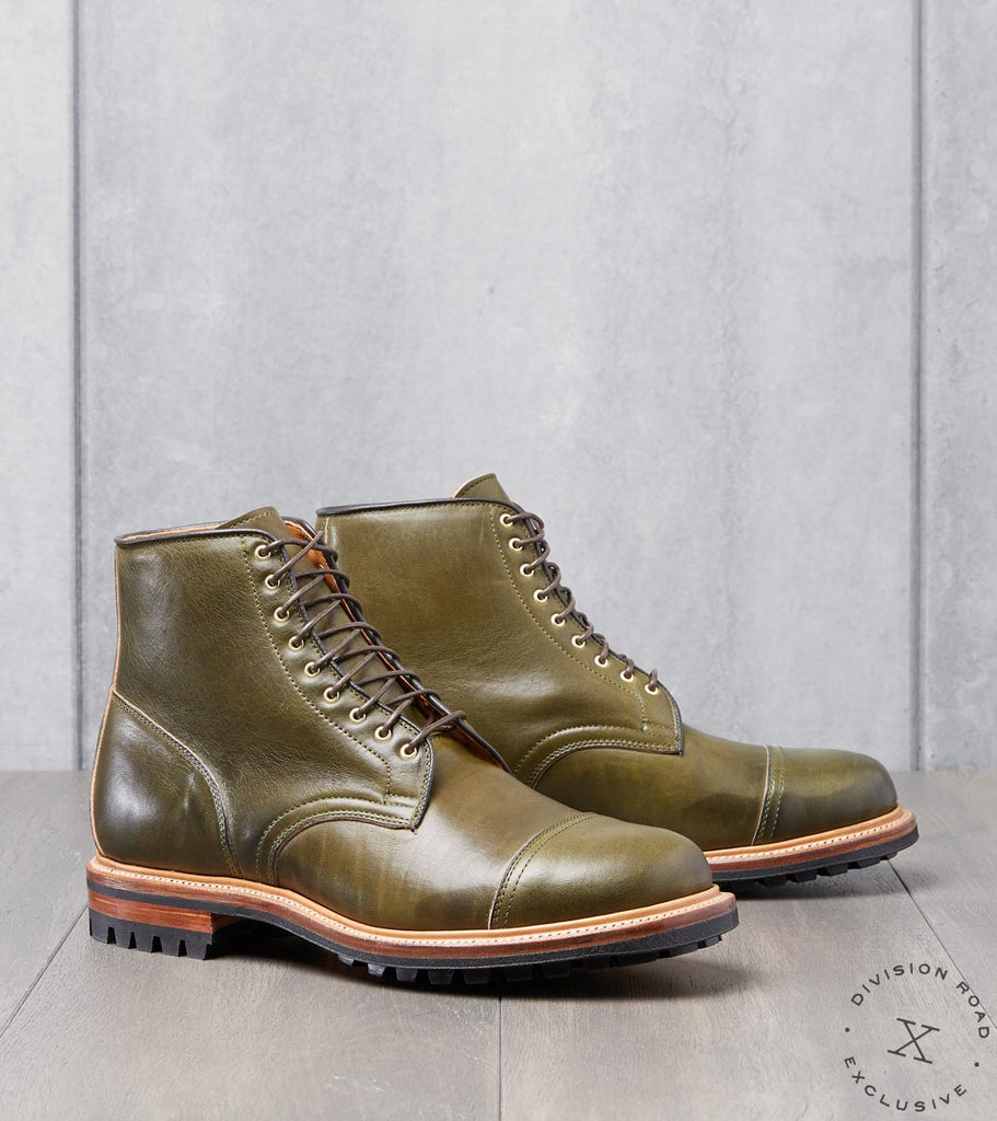 Division Road Viberg x DR Officer Boot - 2055 - Commando - Shinki Olive Latigo Horsehide