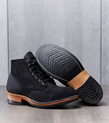 Viberg Service Boot - 310 - Vibram 705 - Black Oil Tan Roughout Division Road Boot