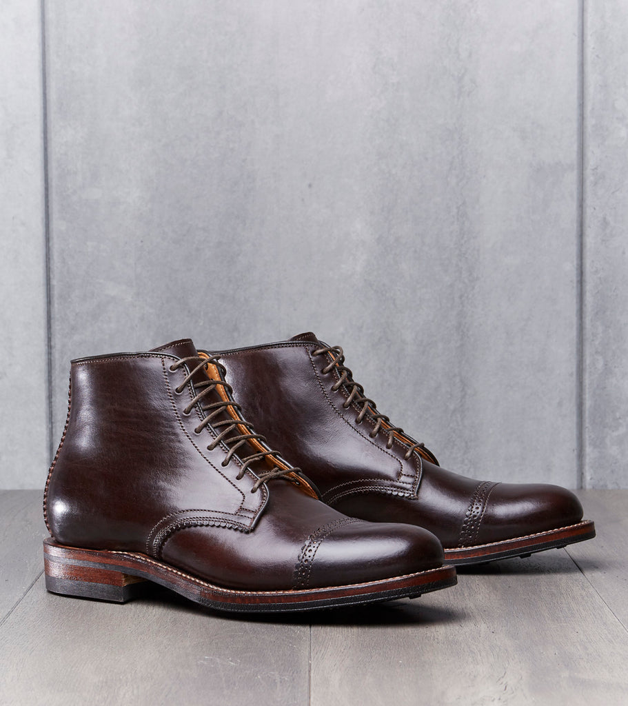Viberg Pinky Blinder Derby Boot - 2030 - Dainite - Brown Horsebutt Division Road
