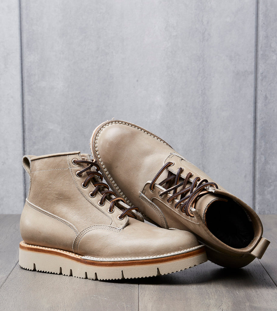 Viberg Scout Boot - 2030 - Vibram Gloxi - Grey Calico Smooth Division Road