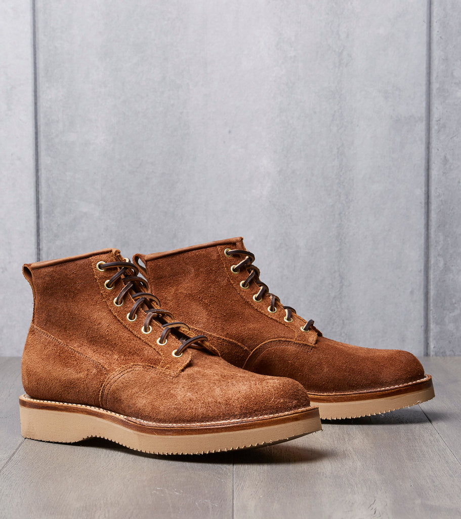 Viberg Scout Boot - 2040 - Vibram 2060 - Aged Bark Roughout Division Road