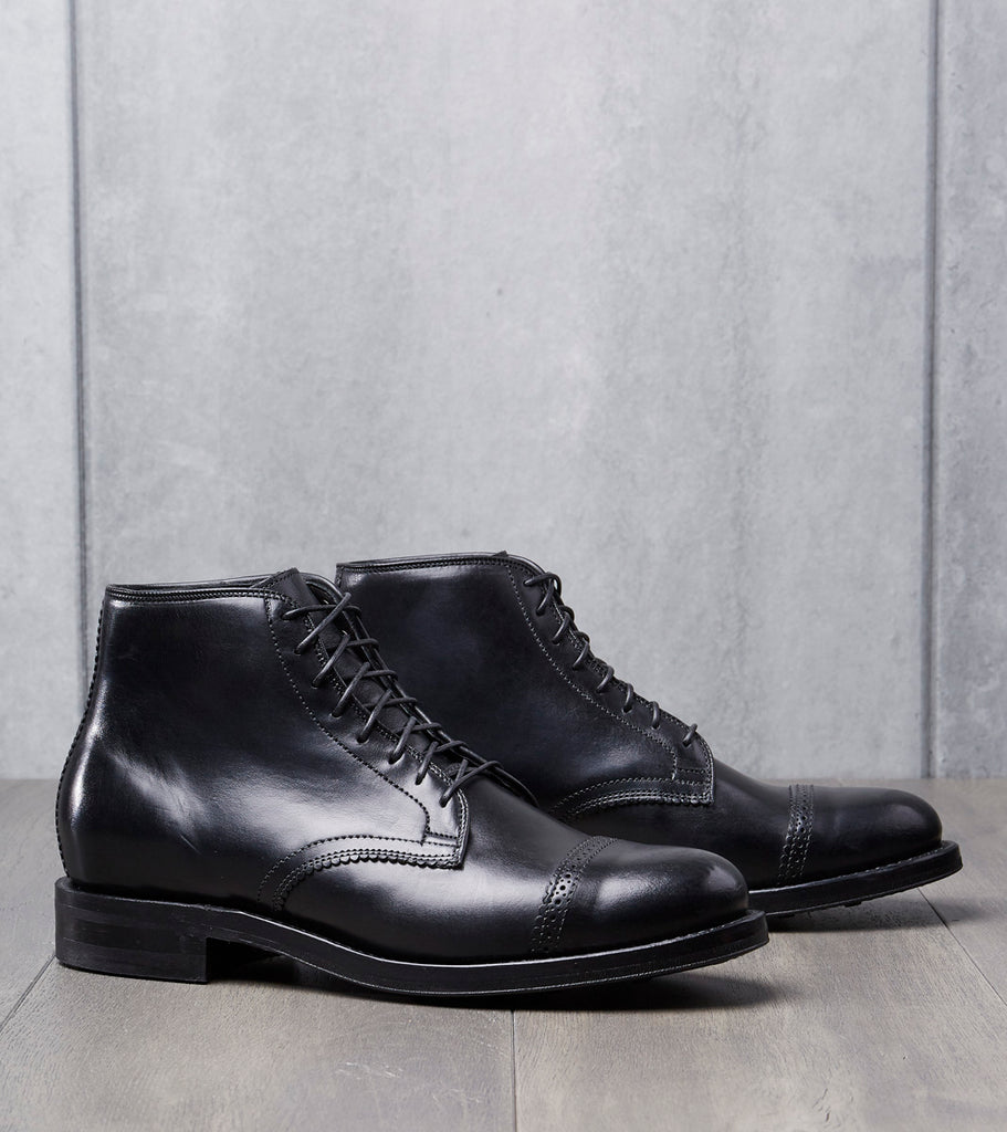 Viberg Pinky Blinder Derby Boot - 2030 - Dainite - Black Horsebutt Division Road