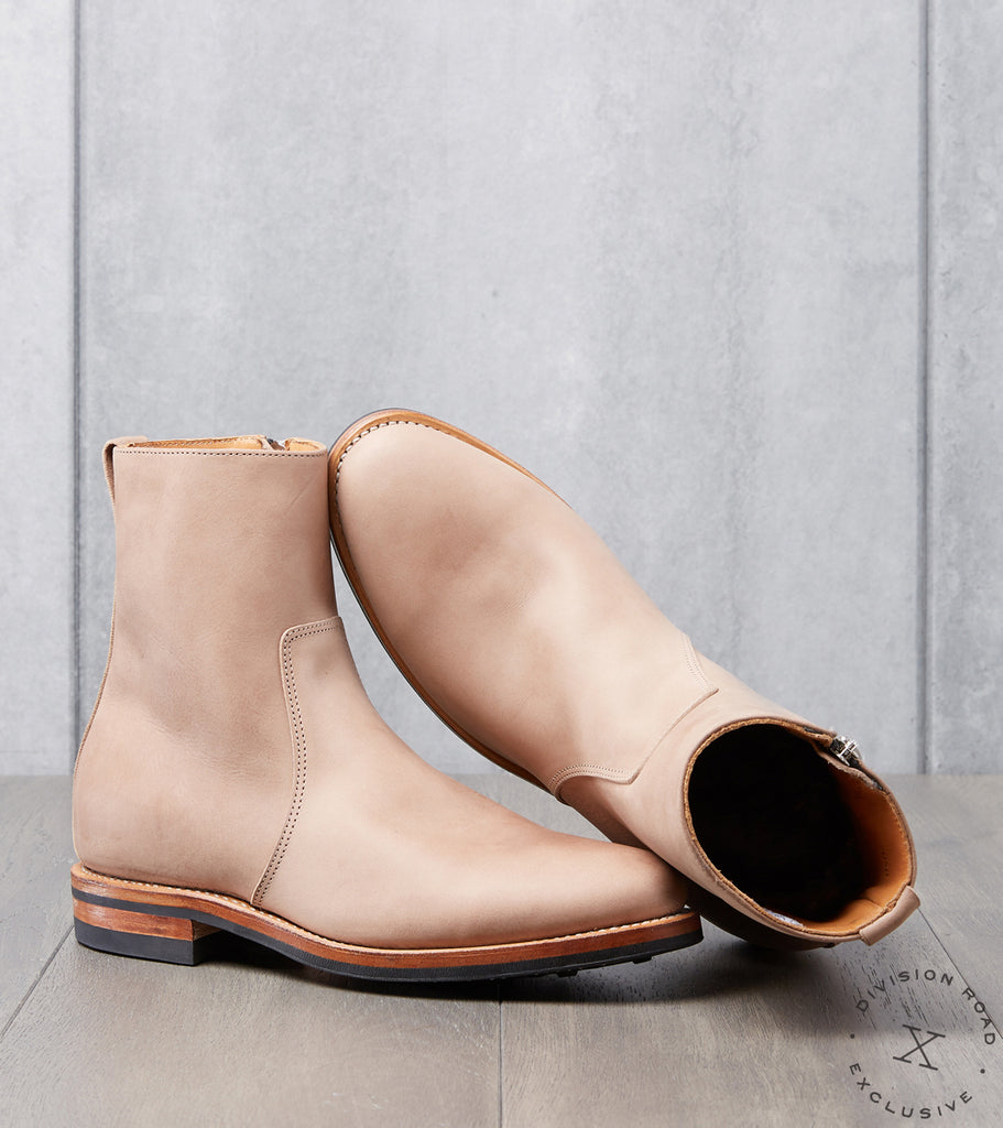 Division Road Viberg Side Zip Boot - 2050 - Dainite - Fango Vitello Calf