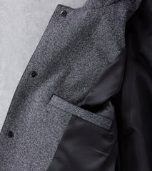 wings+horns Static Twill Mac Coat - Marled Black Division Road
