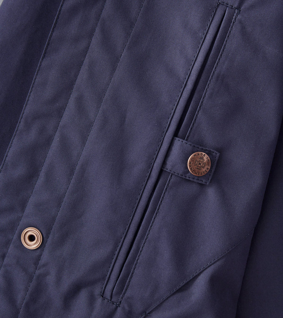 Private White V.C. Unlined Ventile Mac - Navy - Division Road