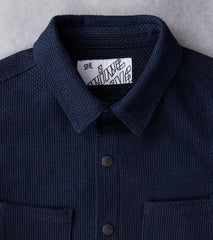 Nine Lives Kalamazoo Sashiko Workshirt - Indigo Division Road