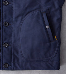 Iron Heart 30-IND - N1 Deck Jacket - 11oz Indigo Whipcord & Alpaca Lined Division Road
