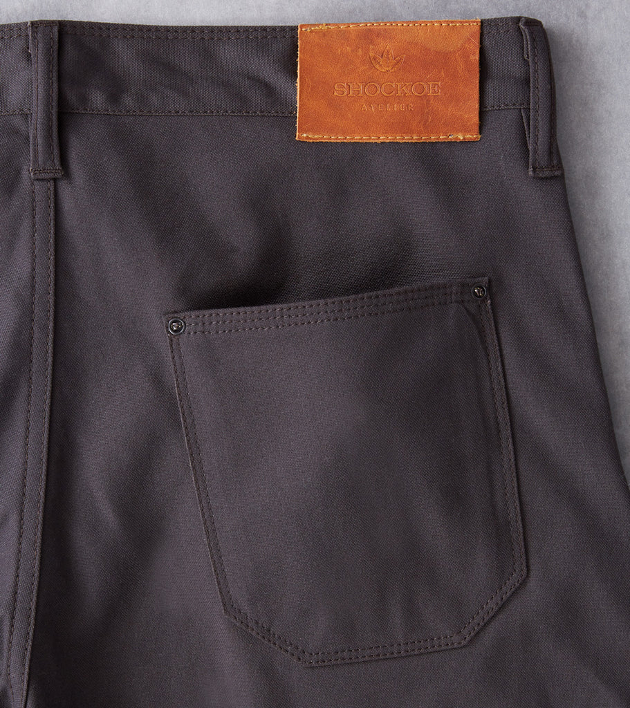 Shockoe Atelier Field Trouser - Selvedge Duck - Charcoal Division Road