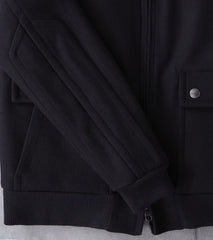 Private White V.C. x Division Road Flight Jacket - Black Abraham Moon® Melton Wool