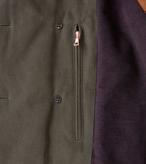 Private White V.C. x Division Road Archive Jeep Coat - Olive Battle Twill