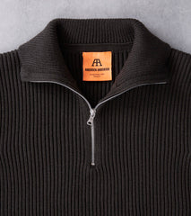 Andersen-Andersen Navy Half Zip Sweater - Hunting Green Division Road