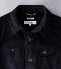 Freemans Sporting Club x DR Camp Overshirt - 9oz Japanese Corduroy - Black Division Road
