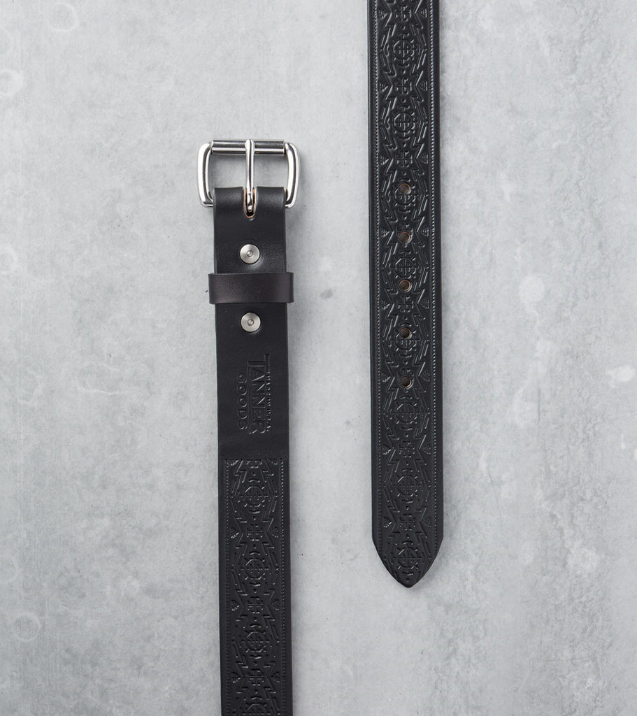 Tanner Goods Standard Belt Stainless Black Geoglyph