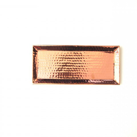 Hammered Rose Gold Tray