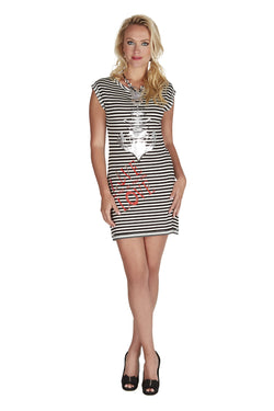 Black and White Anchor Dress