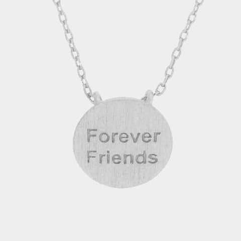 Forever Friends Message Pendant Necklace