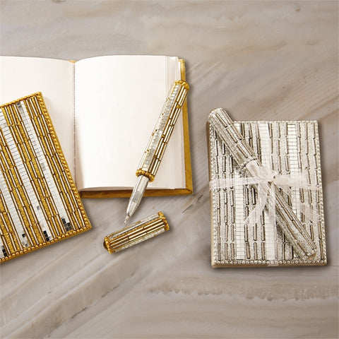 Metallic Mirrored Notebook with Pen