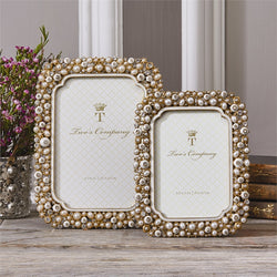 Timeless Crystals and Pearls Photo Frame in Gift Box