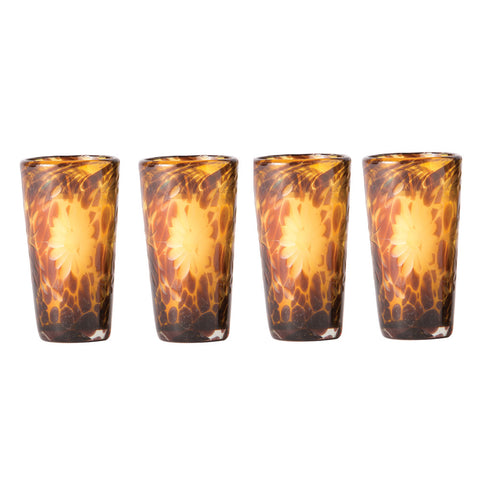"""El Jefe"" Jaguar Tall Shot Glass Set of 4"