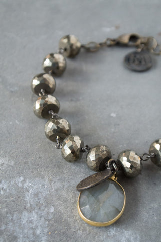 Felicity Pyrite Antique Bracelet