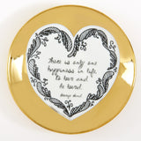 Gold Heart Plates Assorted 6 Sayings