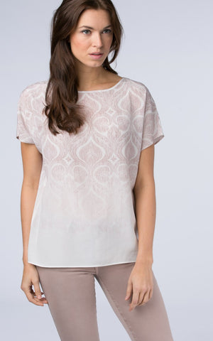 T-Shirt with Ornamental Print