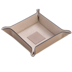 Taupe Leather Change Valet Tray