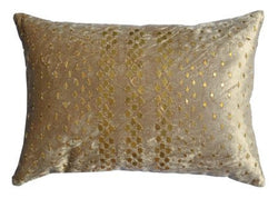 Gold Velvet Pillow With Diamond Sequins