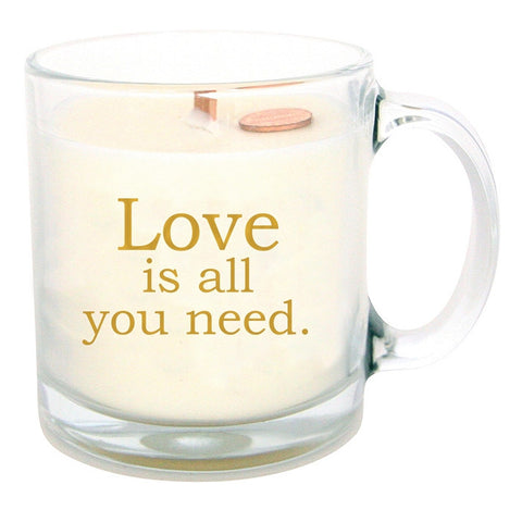 13oz Love Is All You Need Coffee Mug Glass Candle