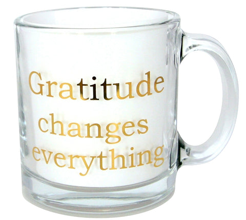 Gratitude Changes Everything Clear Coffee Mug