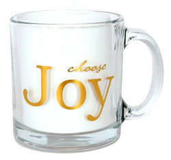Choose Joy Clear Coffee Mug