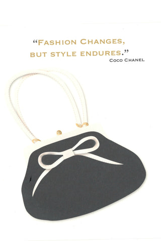 """Fashion Changes, But Style Endures."" Note Card"